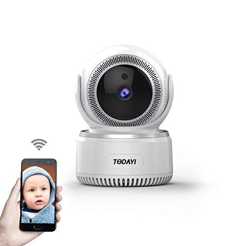 WiFi WLAN Kamera 1080P HD Nanny Kamera Babyphone IP Kamera Wireless Überwachungskamera mit Pan Tilt Bewegungserkennung Zwei-Wege-Audio und Nachtsicht für iPhone/Android Handy/PC …