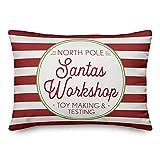VinMea Leonia Santa's Workshop 20 X 30 Inch Premium Lumbar Throw Pillow Cover For Home Car Sofa Decor Cover