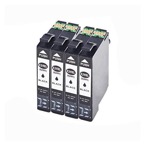 GBHD Cartucho de tinta de impresora T2991 (con chip duradero) para Cartouche Encre Epson XP 21 245 XP 235 XP 342 XP 435 XP 442 XP 345 (color 4BK)