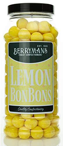 Original Lemon BonBons Retro Sweets Gift Jar by Berrymans Sweet Shop (Bon Bons) – Classic Sweets, Traditional Taste.