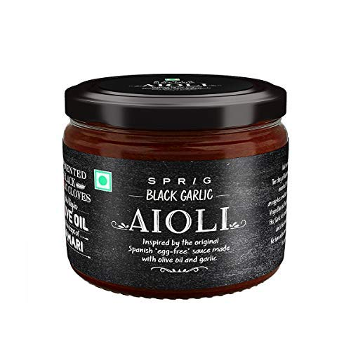 Black Garlic AIOLI, Delicious eggless dip, Better Than Mayonnaise, Twist of Flavourful Black Garlic, 260g