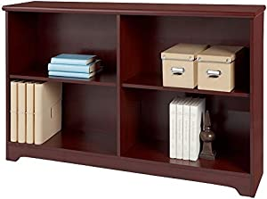 Realspace Magellan Collection 2-Shelf Sofa Bookcase, Classic Cherry