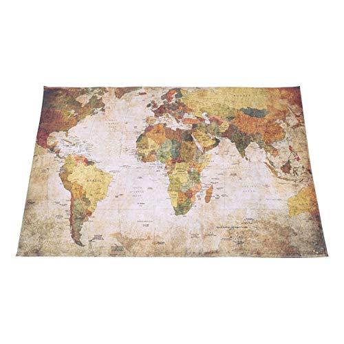 【Venta del día de la madre】Alfombrilla de mapa del mundo, alfombrilla de suelo Alfombra de suelo Alfombra de mapa del mundo, Alfombra de área suave de poliéster Alfombra para cocina, sala de esta
