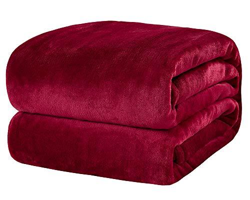 SCM Kuscheldecke XL Bordeaux Wohndecke 280GSM Tagesdecke Decke Flauschig Weich und Angenehm Warm Überwurf Sofadecke mit Premium Cashmere Feeling, 150x200cm
