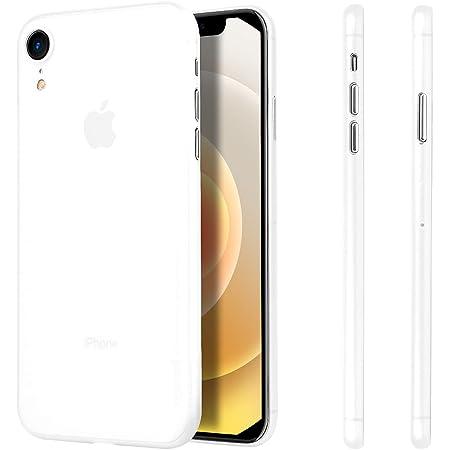 iPhone XR ケース 超薄型 memumi® アイフォンXR カバー スリム 0.3 PPハードケース Qi充電対応 指紋防止 一体感 ボタン保護 人気ケース·カバー (iPhone 6.1(2018), クリアホワイト)