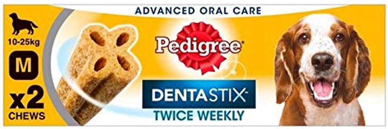 6X Pedigree Twice Weekly DentaStix Medium Dog Chews 2 x 80g