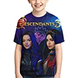 RGRG Descendants 3 Evie Boys Fashion Cute 3D Impreso Niños Camiseta de Manga Corta