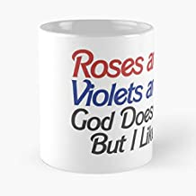 FISHOP You Atheist Valentines But Day Exist Doesnt I Valentine Atheism Love Humor Funny Violet Are God Red Like Roses Blue La Mejor Taza de café de cerámica de mármol Blanco de 11 oz