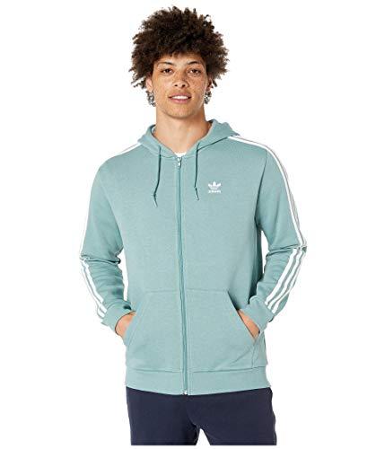 adidas Originals Herren 3-Streifen Zip Hoodie - Grün - Medium