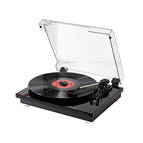 Sdesign Reproductor de grabación, Placa giratoria de Vinilo portátil Bluetooth y Altavoces estéreo incorporados, aux-in, RCA, 3 Velocidad 33/45/78 RPM