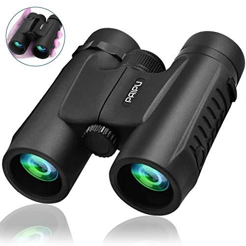 Fernglas PAIPU HD Robust Ferngläser 10x40 Wasserdicht Feldstecher für Vogelbeobachtung, Wandern, Jagen, Sightseeing, Kompakt Teleskop für Erwachsene und Kinder