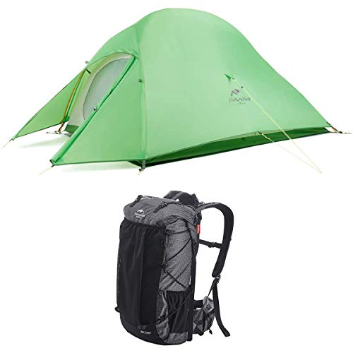 Naturehike Backpacking Camping Equipment Set, Including A Cloud Up 2 Tent, A 65L Internal Frame Hiking Backpack