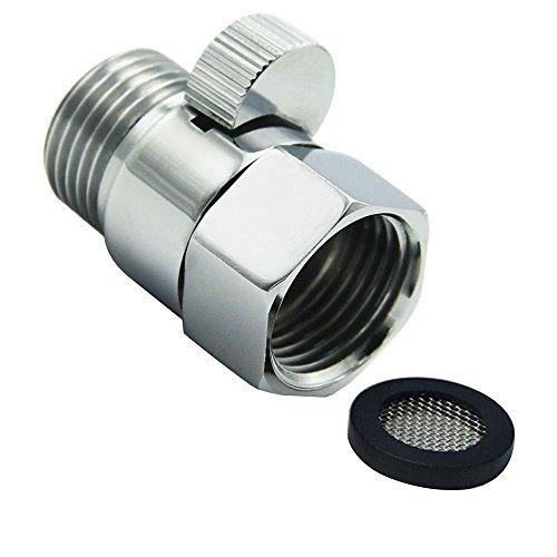lumenty Dusche Head Absperrventil aus massiver Messing mit Kurz Schalter und Messing Griff für Dusche Head Handbrause Universal Ersatzteil poliert chrom