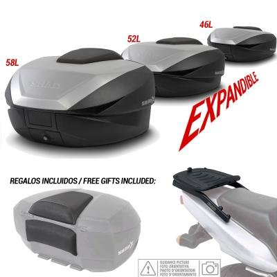 Kit-shad-2270 - kit fijacion y maleta baul trasero + respaldo pasajero regalo sh59x compatible con honda cbr 600f 2001-2008