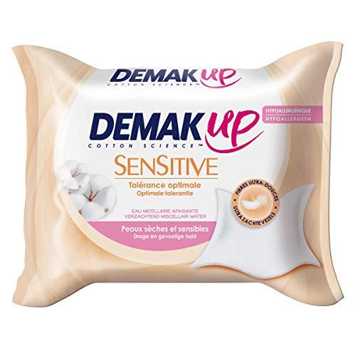 Demak'Up Sensitive - Lingette Démaquillante Peaux Sèches et Sensibles (3 Paquets de 23 Lingettes)