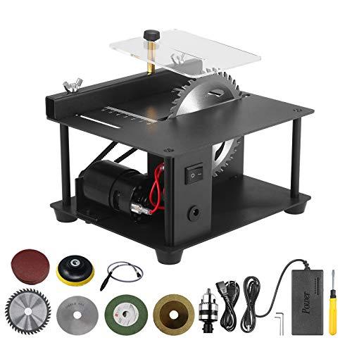 Sierra de mesa multifuncional Mini cortadora de sierra de escritorio Cortadora eléctrica...
