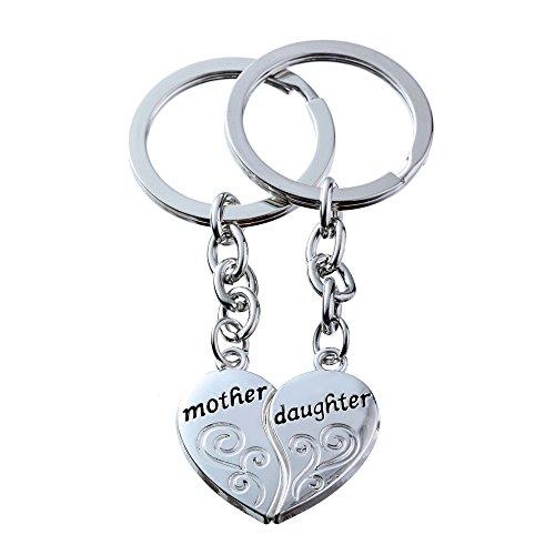 2 stks moeder dochter split gebroken hart sleutelhanger ringen set dubbele hangers familie cadeau voor vrouwen meisje