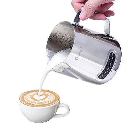 Milch Krug, Run Ant Edelstahl Milchschaum Krug mit Thermometer für Kaffee, Cappuccino, Espresso, Latte Art (600ml/20oz)