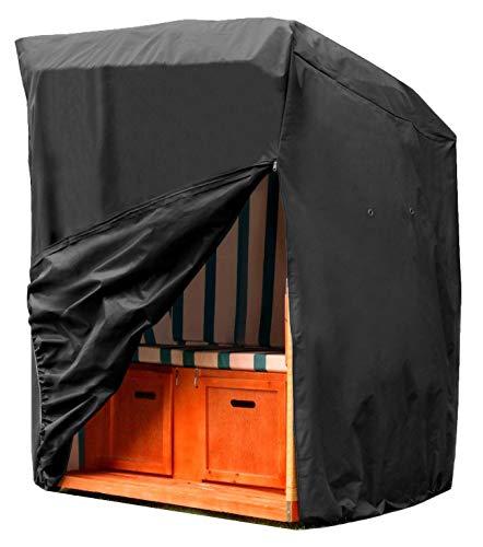 SIRUITON Housse Balancelle de Jardin Balancelle Imperméable Housse de Protection pour Tissu Oxford 420D Noir (175 x 105x 135 cm)
