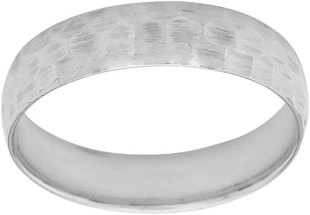 Sale SALE% OFF Solid Sterling Silver Hammered 4mm Ring Band Wedding Challenge the lowest price of Japan