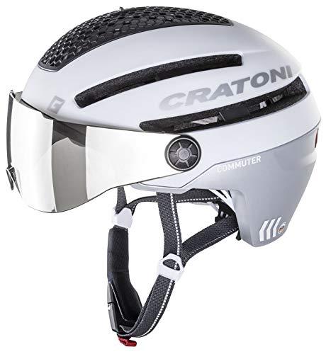 Cratoni Unisex– Erwachsene Commuter Fahrradhelm, weiß matt, S/M