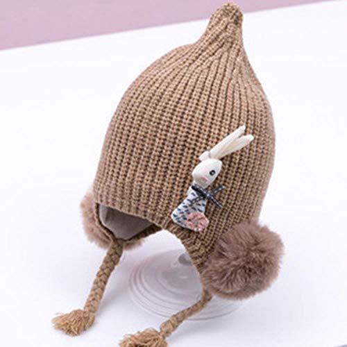 anyuq66qq Warme Mütze Cartoon-Kaninchen-Kind-Baby-Mädchen-Warme Knit-Nette Gestrickte Häkelarbeit-Beanie-Hut-Kappen-Foto-Partei-Stütze 0-24Month Warme Hüte Des Babywinters, Als Foto-Shows, 0 Bis 24Mon