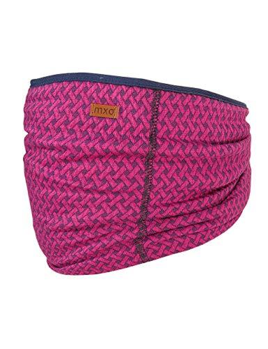 maximo baby-meisjes GOTS halswarmer van jersey sjaal, roze (donkerroze gemêleerd 87), 2 (fabrikantmaat: 2)