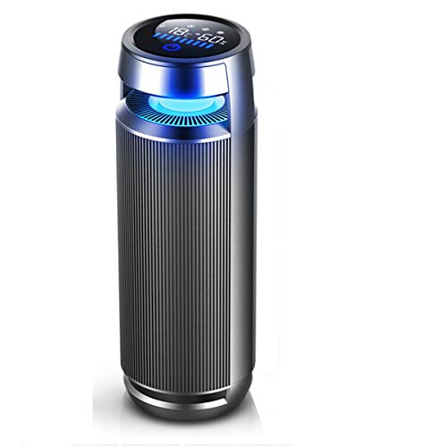 VANTRO Smart Car Air Purifier with HEPA and Ionizer with Digital Touch Display