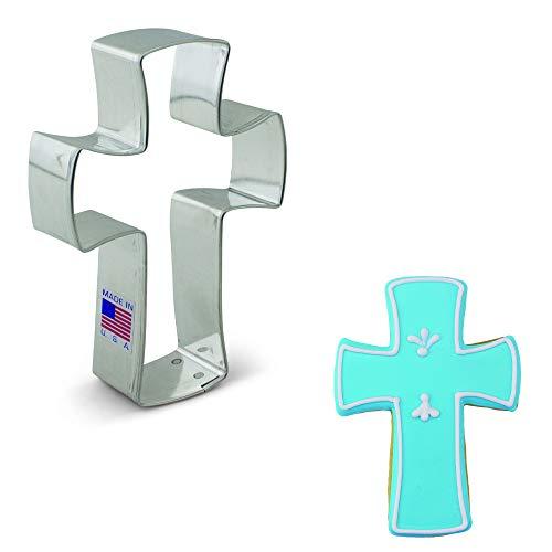 Ann Clark Cookie Cutters Cortador de galletas cruz cristiana - 11,5 cm - Acero fabricado en EE.UU.