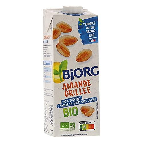 Bjorg Lait d'Amande Grillée Bio - 100% végétal - Pauvre en acides gras saturés - 1 L