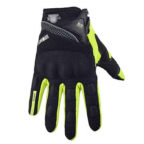 MYSdd Motorradhandschuhe Racing Handschuhe Motorradfahrer Handschuhe Reiten Motocross Handschuhe -Grün XM