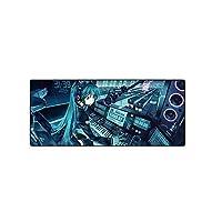 ゲーミングマウスパッド, ゲームマウスマット、大型マウスマットブルーの漫画のキャラクター700x300mmの防水キーボードマット、スリップベース、ステッチエッジ、コンピューターと机のための滑らかな表面 (Size : 900*400*3mm)