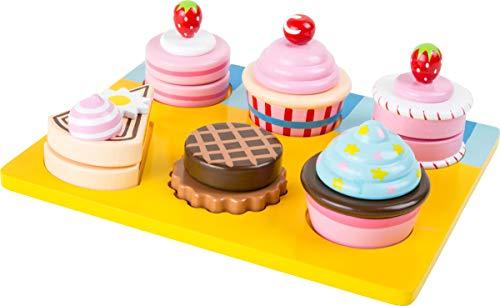 """small foot 10149 Schneide \""""Cupcakes und Torten\"""" aus Holz, mit Klettverschluss individuell kombinierbar, ab 3 Jahren"""