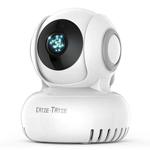 Katze-Tatze ベビーモニター ネットワークカメラ 防犯カメラ 遠隔操作 双方向音声通信 暗視機能付き 720P高...