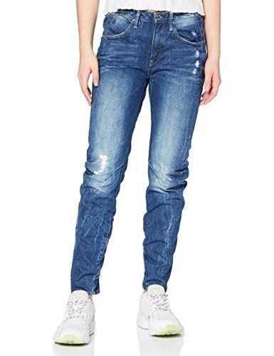 G-STAR RAW Damen Jeans Arc 3d Low Waist Boyfriend Jeans, Blau (Medium Aged Destroy 5773-3142), 28W / 34L