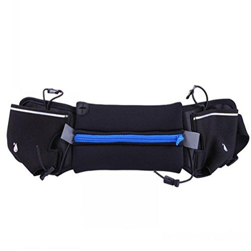 WINOMO sac de taille courroie de course Ceinture d'hydratation extérieur convient pour 4-6 pouces téléphone pour la marche fitness vélo marche hommes et femmes (Bleu)