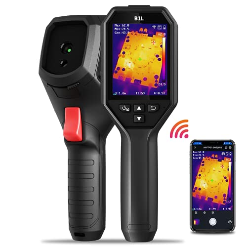 """HIKMICRO B1L 160 x 120 IR Resolution Thermal Imaging Camera with WiFi, 25Hz Refresh Rate, 3.2"""" LCD Screen, Handheld 19200 Pixels Infrared Thermal Imager with High Temperature Alarm"""