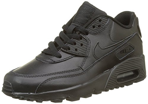 Nike Herren Air Max 90 Leather Laufschuhe, Schwarz (Black 001), 40 EU