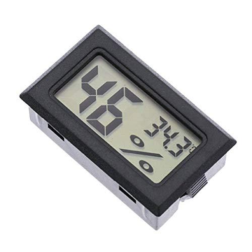 Nihlssen Termómetro portátil Integrado, higrómetro, medidor de Humedad de Temperatura Interior Digital electrónico inalámbrico, Negro,