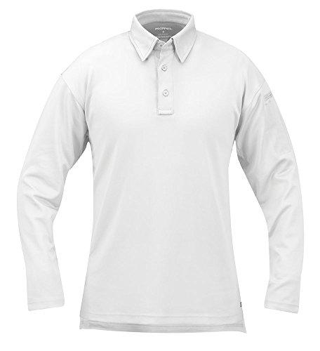 Propper Men's I.C.E Men's Long Sleeve Performance Polo Shirt, White, 4X-Large Regular