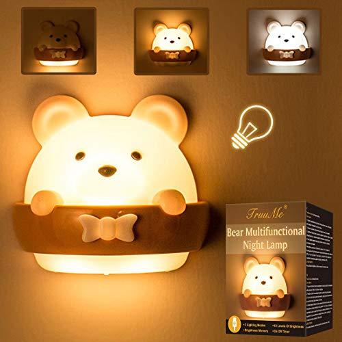 LED Nachtlicht Kinder, Nachtlicht Kind, Nachttischlampe Baby, Tragbare USB Aufladen Nachtlampe Gelbes Licht für Das Lesen, Schlafen und Entspannen, Nachtleuchte Baby für Schlafzimmer