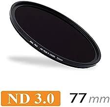 CameraPlus Professional 77mm Slim S-PRO1 Neutral Density 3 0 Filter 1000x Stops Free alimimium screw-in filter caps