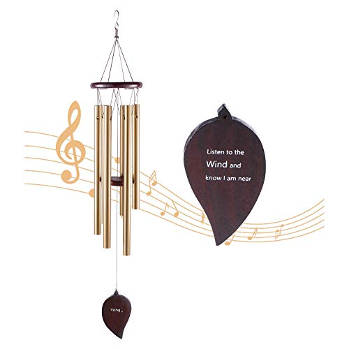 Sympathy Wind Chimes Memorial of a Loved One 30 Inches Wooden Wind Chime For Outside Garden Indoor Gardens, Terraces, Porches
