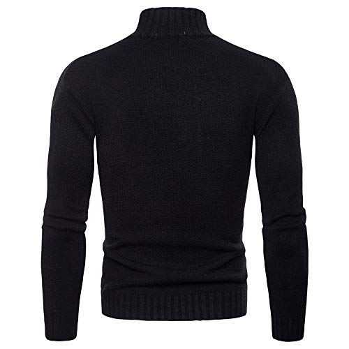 ZY Glaa Mens Turtleneck Soft Long Sleeve Top Ski Golf Crew Neck Thermal T Shirt Jumper Muscle Slim Fitted Tops for Men Large Size T Shirts Plain Top Jumper Autumn Winter Long Sleeve Sweatshirts