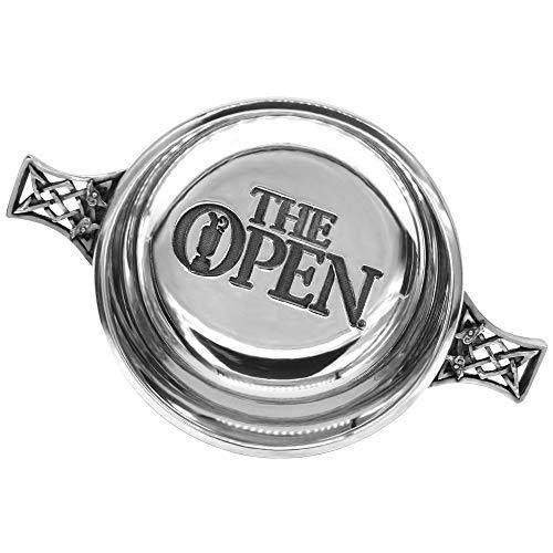 The Open Pewter Quaich Bowl - Offiziell lizenzierte Quaich Bowl mit Zinn-Whisky-Verkostung von English Pewter Company - Feier der British Open - Fabelhaftes Golfgeschenk [BOP02]