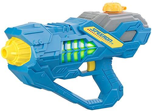 Speeron Wasserpistole elektrisch: Batteriebetriebene Wasser-Spritzpistole mit LED-Lichteffekt, 450 ml (Wasserspritzpistole elektrisch)