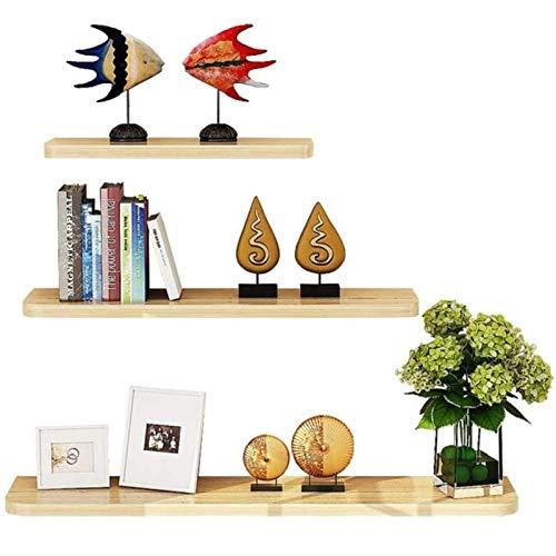 DGDF Estantes para colgar en la pared, juego de 3 CD Pops Estante de almacenamiento de madera Estante de exhibición Modren Plantas Toallas, Perfumes, Estantes Largos para el Hogar Baño