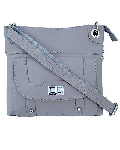 Ladies' Gun Concealment Crossbody Bag Grey