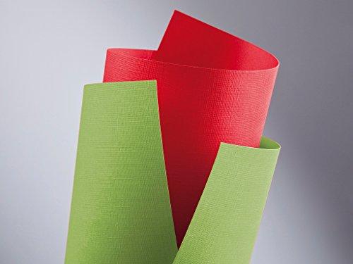 20 FALAMBI Premiumkarton Holland rot, Papier 220 g/m², bedruckbar, fein geprägter durchgefärbter Karton