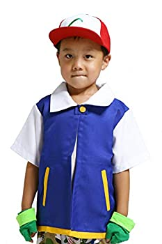 LAYSHOWCOS Costume Hoodie Cosplay Jacket Shirt Gloves Hat Sets for Trainer 130 Blue
